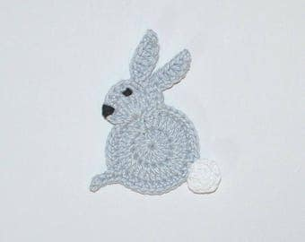 Bunny-Easter Bunny-application-patch-Crochet application