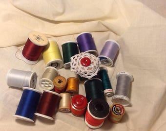 GRAB BAG #4 Vintage Thread altered spools