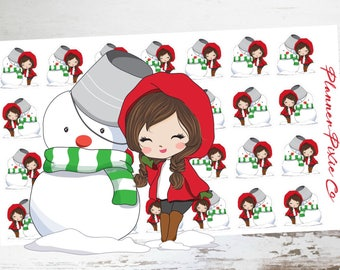 Snowman // Winter // Christmas // Deco Planner Stickers