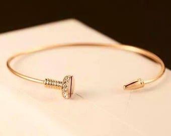 Bracelet pin nail in gold filled 18k