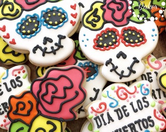 Dia De Los Muertos ( Day Of the dead Cookies) - 1 Dozen