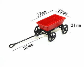 Miniature Red Toy Trolley 1/12 scale