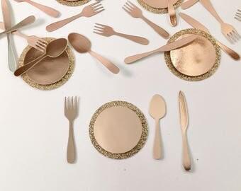 Fork Spoon Knife Confetti - Cutlery confetti - cutlery - fork confetti - knife confetti - spoon confetti - confetti - gold - silver