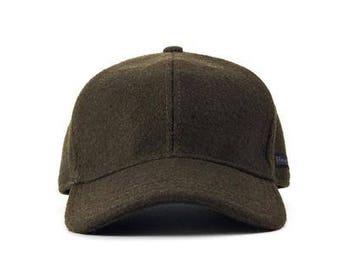 Filipacchi Vintage Style Wool Baseball Cap - Olive