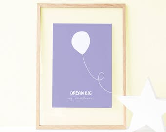 Hearts Nursery Decor, Quote Poster, Kids Room Decor, Nursery Wall Art, Nursery Art, Playroom Prints, Baby Girl Nursery, Baby Boy Nursery