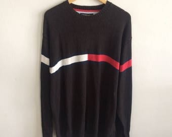 BIG SALE Vintage Tommy Hilfiger Knit Sweater Hip Hop Tommy Hilfiger Big Logo