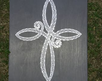 Infinity Cross String Art