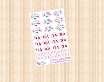 Tea Time // Diary // Planner // Stickers