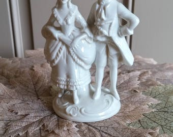 White Porcelain Courting German Couple