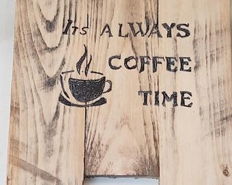 Coffee wall sign