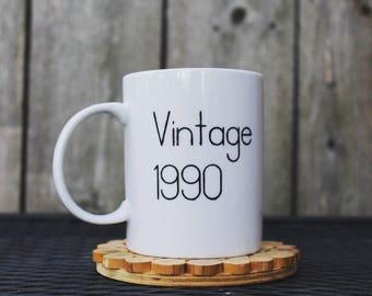 Custom Vintage Ceramic Coffee Mug
