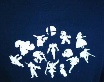 Smash brothers character shirt
