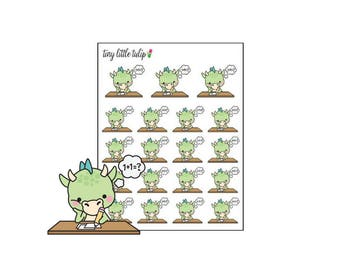 Planner Stickers Dragon Homework/Assignment