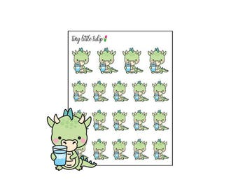 Planner Stickers Dragon Hydrate/Drink Water