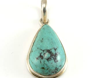 Turquoise Pendant, Southwestern Pendant, Sterling Silver