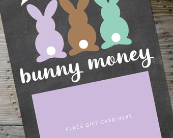 Gift card etsy easter gift card bunney money negle Image collections