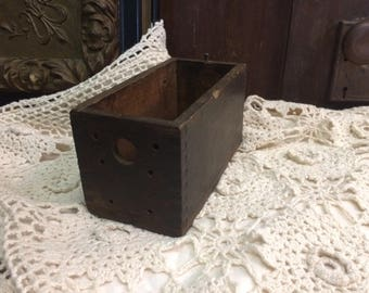 Antique Wooden Dovetail Drawer | Vintage Farmhouse Decor