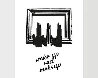 Lipstick Print, Lipstick Poster, Fashion Print, Fashion Art, Modern Print, Makeup Print, Makeup Poster, Makeup Art, Instant Download