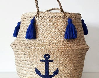 Basket Navy anchor