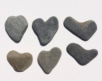Sea Stones for sale Heart Shapes Craft Home Decor Grey Sea Stones