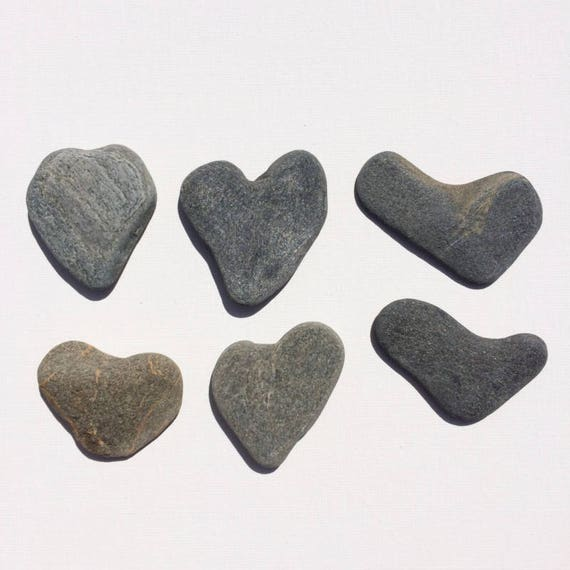 Sea stones for sale heart shapes craft home decor grey sea for Decorative rocks for sale near me