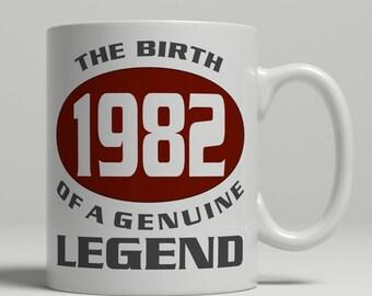 Legend 35th Birthday mug, 35th birthday idea, born 1982 birthday, 35th birthday gift, 35 years old, Happy Birthday, EB 1982 Legend