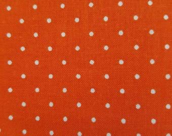 Orange Polka Dot Fabric