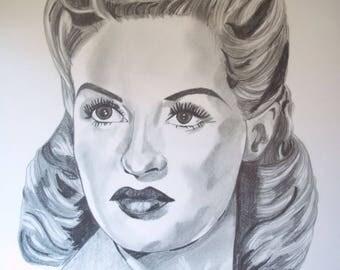 Betty Grable portrait