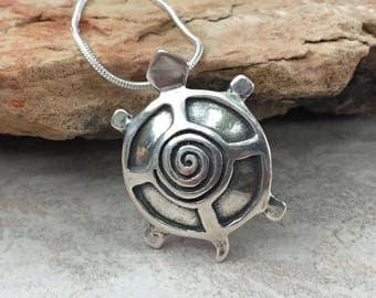 Native American,Apache Necklace,turtle,Sterling Silver,Apache Jewelry,native american,Apache Turtle Sterling Silver Necklace