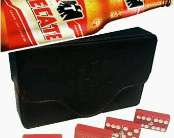 Cerveza Tecate Beer Dominoes Game Set Double 6 Domino Party Gift Man Cave Bar HomeBrew Restaurant Cantina Tavern Pub Family Game Board Game