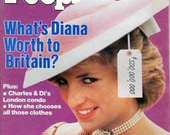 Summer Sale People Magazine November 11, 1985 What's Diana Worth to Britain?
