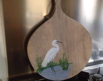 White Heron on Shelf