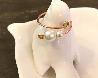 Rose gold color midi ring