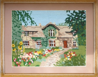 Large Framed Tapestry of Anne Hathaway's Cottage