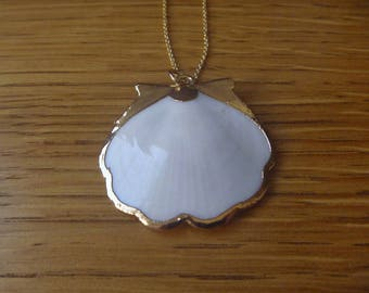 Pearl Necklace shell Gold Plated over Brass
