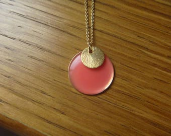 Necklace gold round gold plated sterling silver