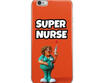 Super Nurse Funny iPhone Case - Iphone 7 case - Iphone 8 case - Iphone 7 plus case - Iphone 6 case - Iphone X case