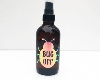 Bug Off Vinyl Label - Bug Spray - Insect Repellent Label