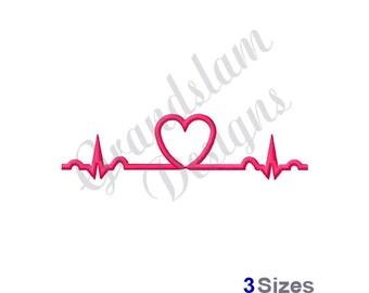 Heartbeat - Machine Embroidery Design