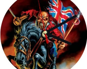 iron Maiden Wall Clock / Clocks . kitchen living room bedroom 30cm diameter the trooper