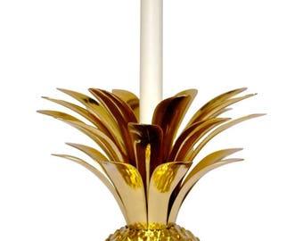 Handmade Cast Brass Pineapple Candle Holder