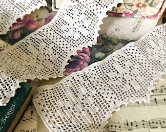 Pretty crochet lace trims