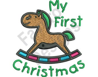 My First Christmas - Machine Embroidery Design