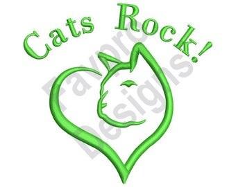 Cats Rock - Machine Embroidery Design