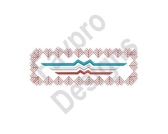 Chevron Rectangle - Machine Embroidery Design