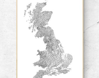 The Rivers of Great Britain  - Black on White