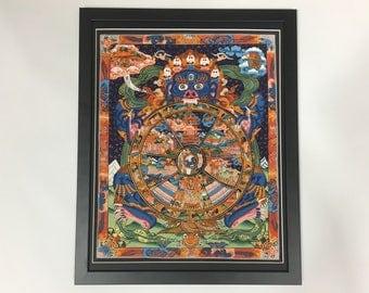 Tibetan Buddhist Thangka art framed painting