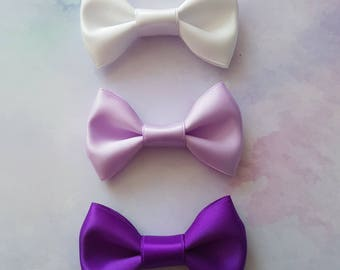 Purple Princess Mini Hair Bow Set