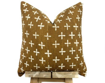 Mudcloth Pillow Cover, Authentic African Mud Cloth Pillow | 'Baba'