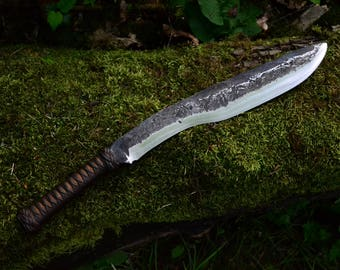 Custom Kukri - forged with hollow handle
